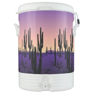 Purple Desert Igloo Beverage Cooler