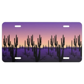 Purple Desert License Plate