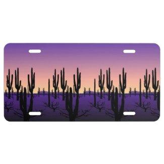 Purple Desert License Plate