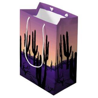 Purple Desert Medium Gift Bag