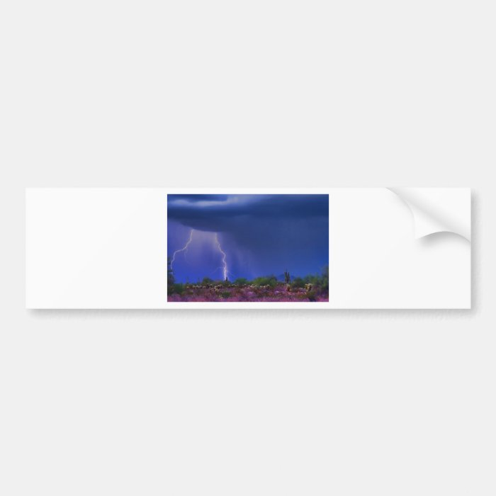 Purple Desert Storm Bumper Sticker