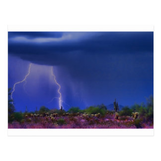 Purple Desert Storm Post Card