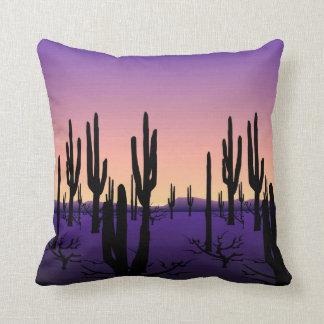 Purple Desert Throw Pillow