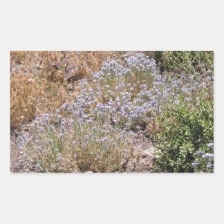 Purple Desert Wildlower Rectangular Sticker