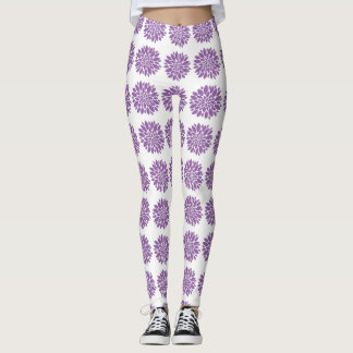 Purple Desgin, Custom Leggings