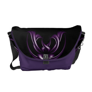 Purple Design abstract Courier Bag