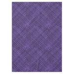 Purple Diagonal Basket Weave Geometric Pattern Tablecloth