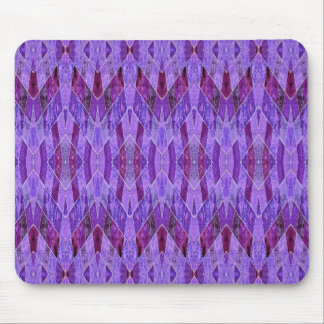 Purple Diamond Abstract Mousepad
