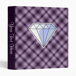 Purple Diamond 3 Ring Binder