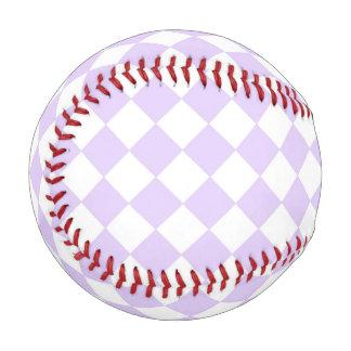 Purple Diamond Checkered pattern Baseball