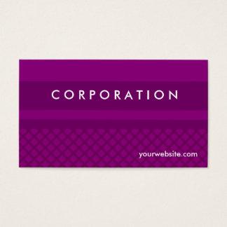 Purple diamond checkered & stripes business cards