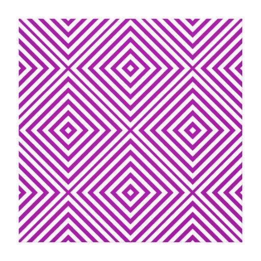 Purple Diamond Chevron @ Emporiomoffa Canvas Print