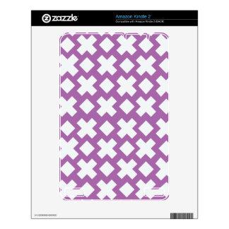 Purple Diamond Cross Pattern Kindle 2 Skin