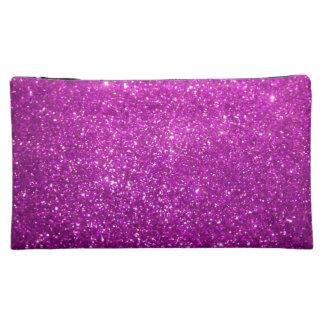 Purple Diamond Glitter Makeup Bag