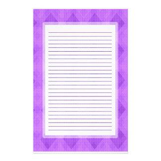 Purple Diamond Lined Stationery