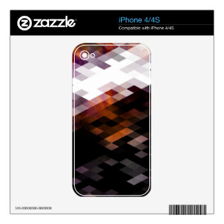 Purple Diamond Modern Design Decals For The iPhone 4S