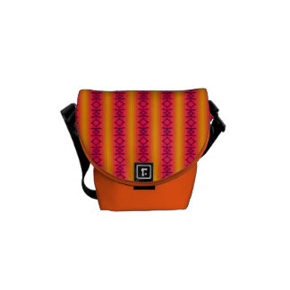 Purple Diamond Orange Stripe Messenger Bags