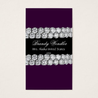 Purple Diamond Pageant Business Card