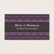 Purple diamond pattern business card