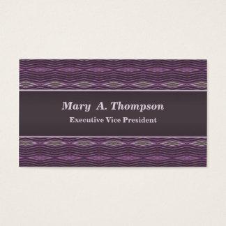 Purple diamond pattern business card