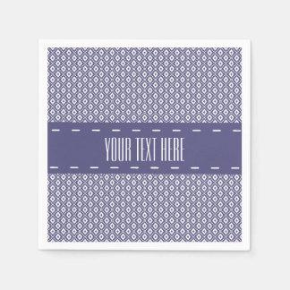 Purple Diamond Pattern Paper Napkin