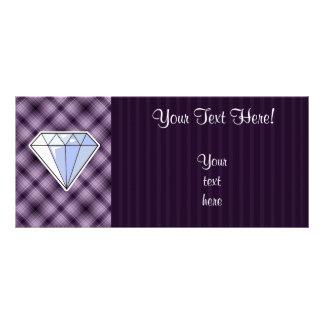 Purple Diamond Rack Card