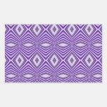 Purple Diamond Stripes Rectangle Sticker