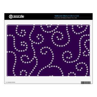 purple diamond swirls skin for medium netbook