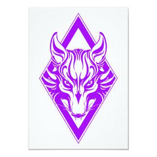 Purple Diamond Wolf Face Graphic Personalized Invitation