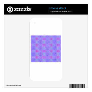 Purple Diamonds 1 Decal For iPhone 4
