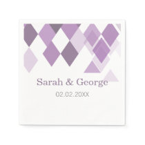 purple diamonds Geometrical personalized napkins
