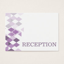 purple diamonds Geometrical  reception invite
