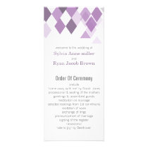 purple diamonds Geometrical wedding programs