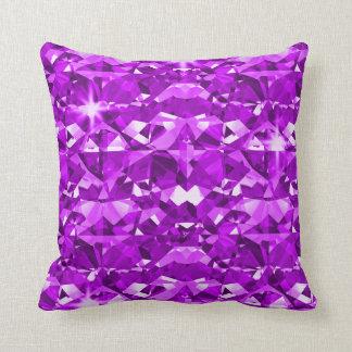 Purple Diamonds Passion Throw Pillow
