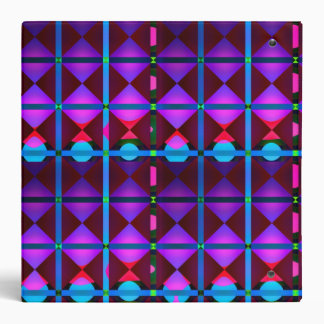Purple Diamonds Pattern 3 Ring Binders