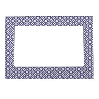 Purple Diamonds Pattern Magnetic Picture Frame