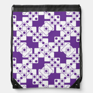 Purple Dice Drawstring Backpack