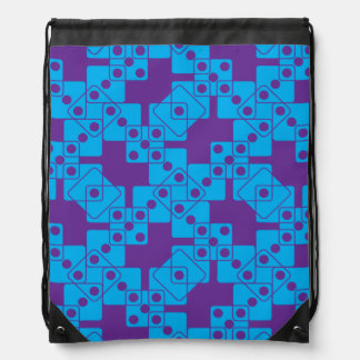 Purple Dice Drawstring Bag