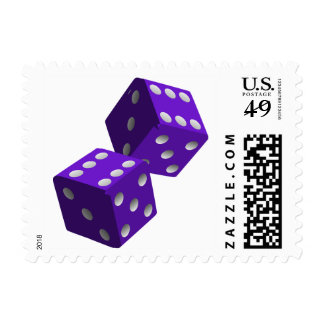 Purple Dice Gambling Roleplay Luck Stamp