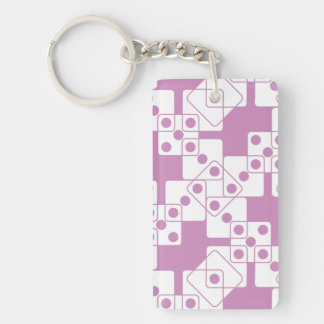Purple Dice Keychain