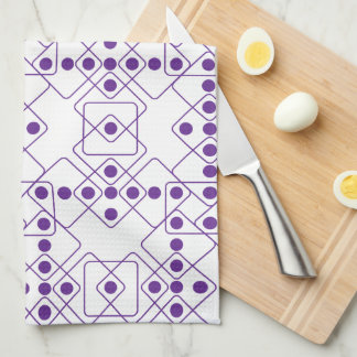 Purple Dice Hand Towels