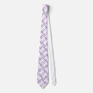 Purple Dice Neck Tie