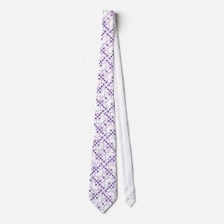 Purple Dice Neck Tie