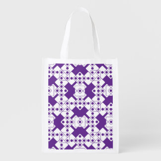 Purple Dice Reusable Grocery Bag