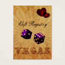 purple dice Vintage Vegas Gift registry Business Card