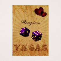 purple dice Vintage Vegas reception cards