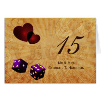 purple dice Vintage Vegas table numbers