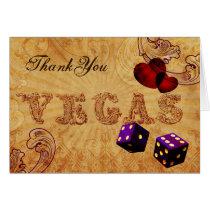 purple dice Vintage Vegas Thank You Card