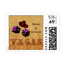 purple dice Vintage Vegas  wedding stamps