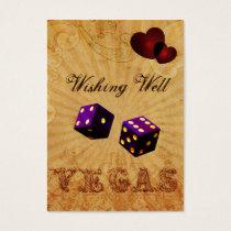 purple dice Vintage Vegas wishing well card
